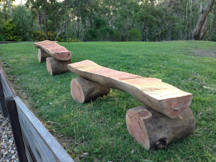 Play Equipment Log Bench