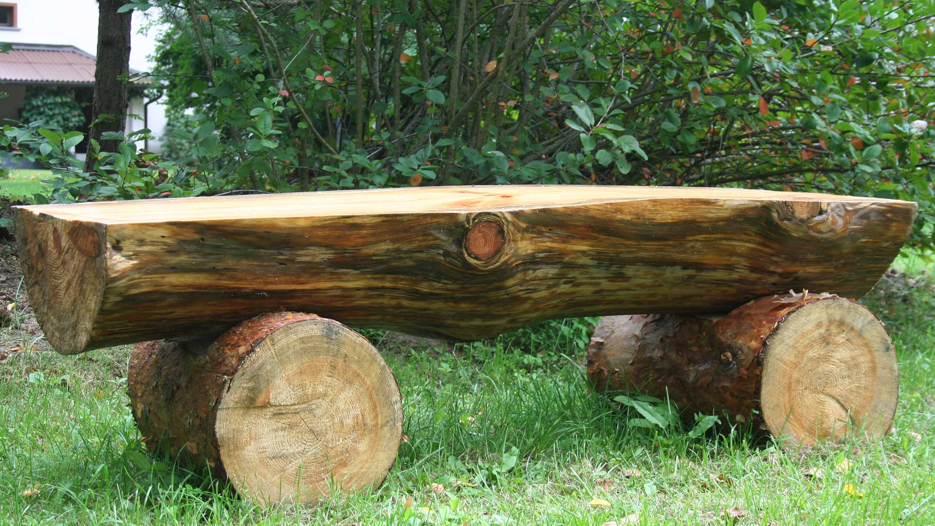 Play Equipment Log Bench