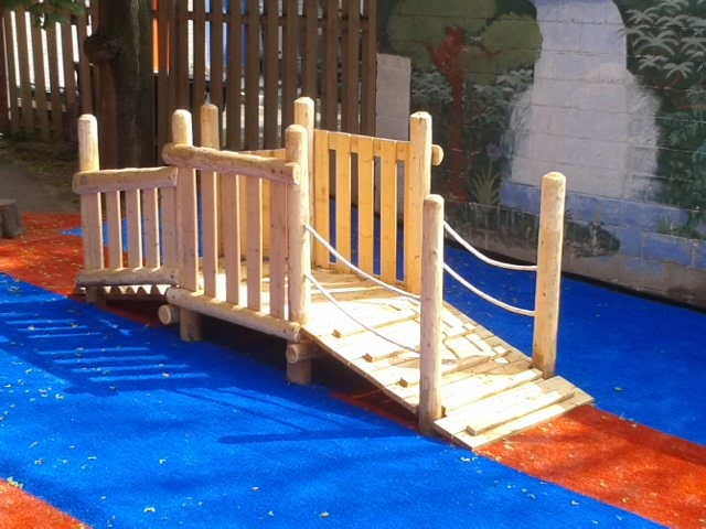 Play Equipment Wooden Bridge