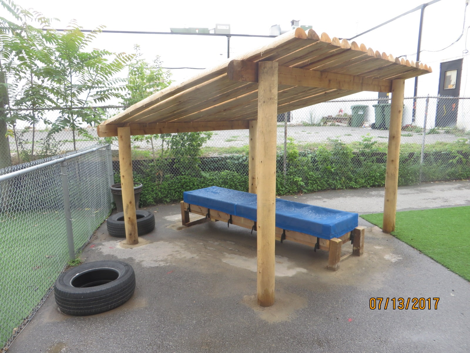 Play Equipment Covered Seating