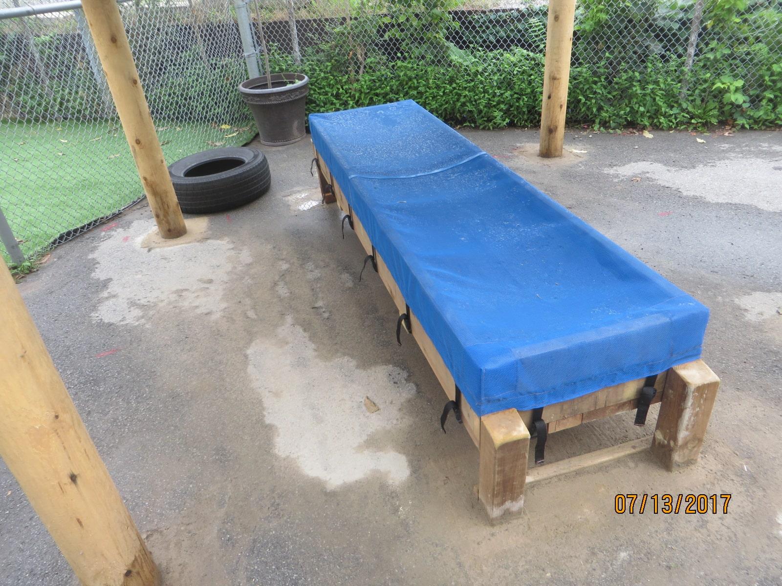 Play Equipment Wooden Bench