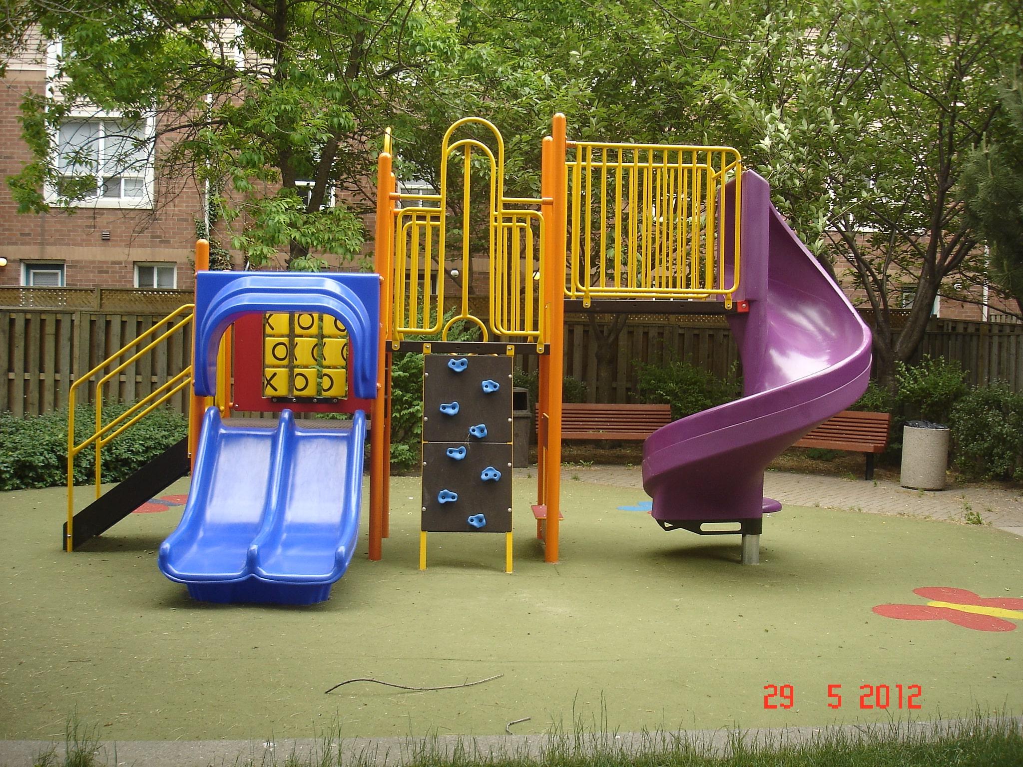 Play Equipment Double Slide