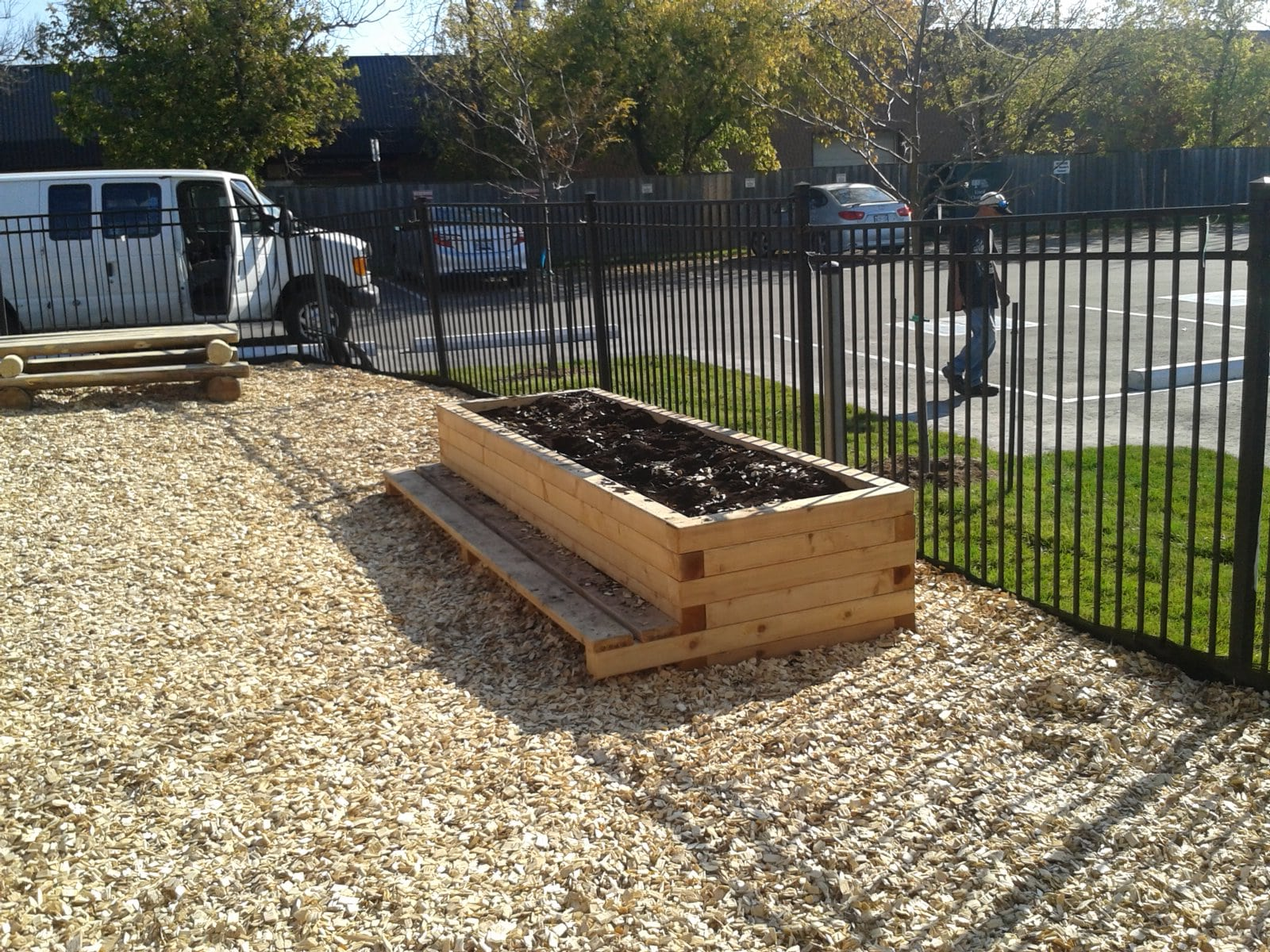 Play Equipment Planter with Benches