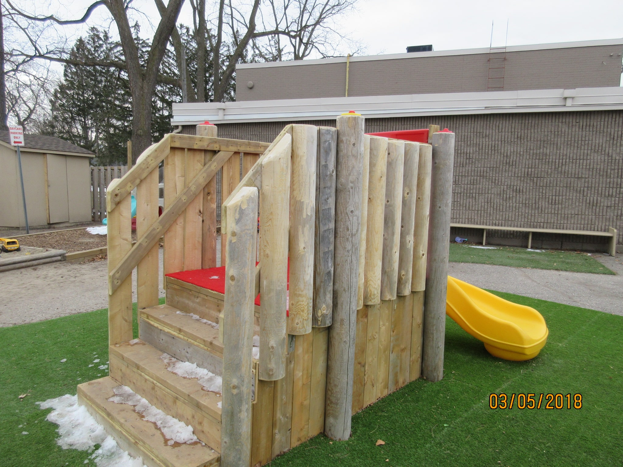 Play Equipment Rustic Slide