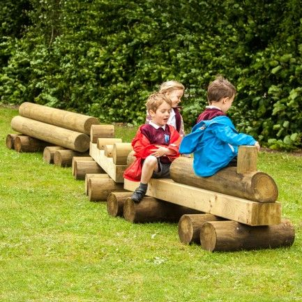 Play Equipment Wooden Train
