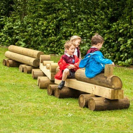 Play Equipment Wooden Train