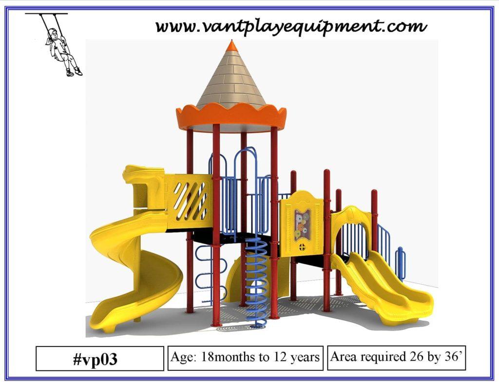 Play Equipment Spiral Slide