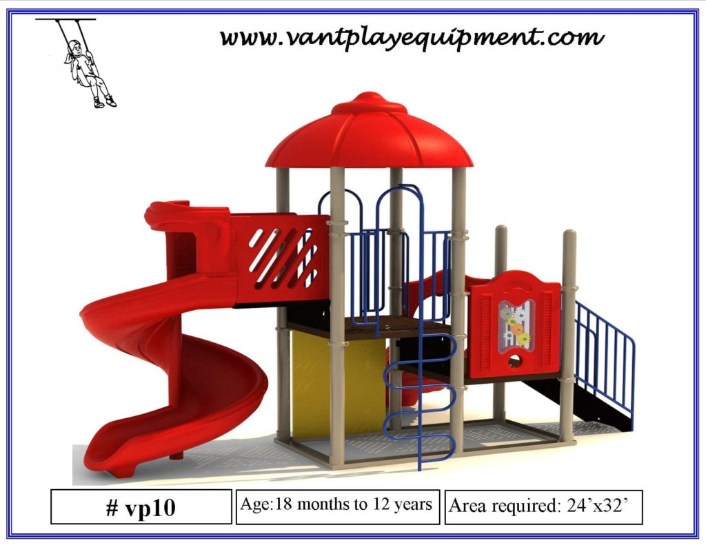 Play Equipment Large Spiral Slide