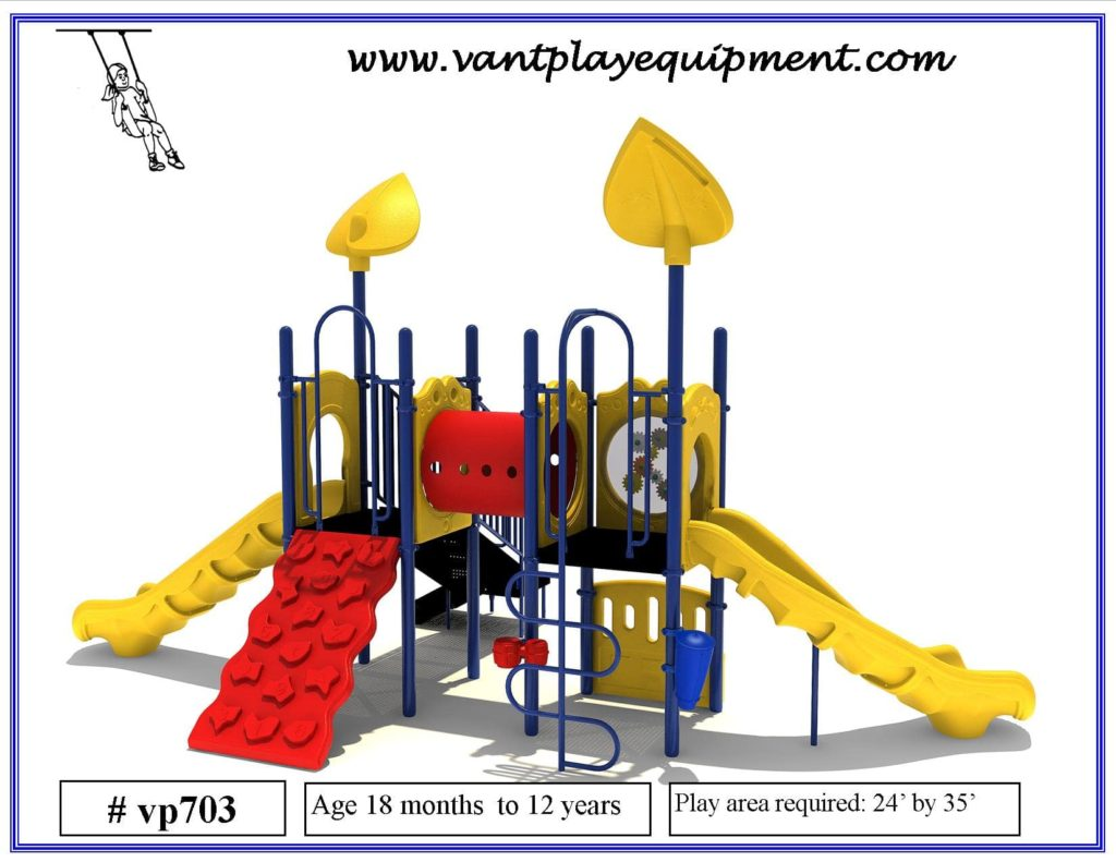 Play Equipment Large 2 Slides Climber