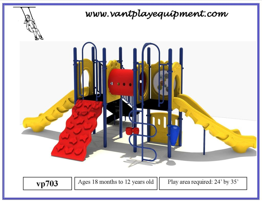 Play Equipment Large 2 Slides