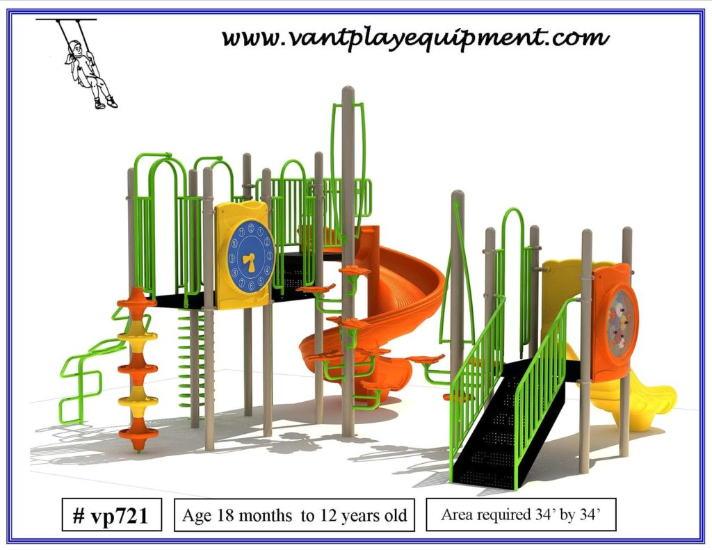 Large Play Equipment Spiral Slide